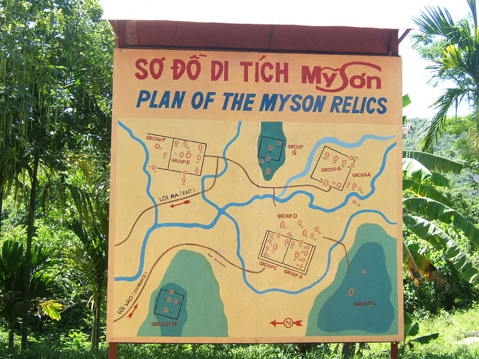 Map of Temple Groups – Photo by Khuong Viet Ha
